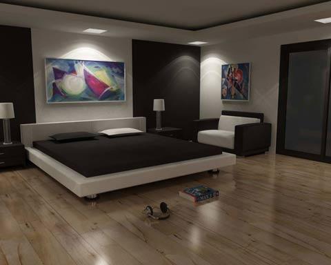 """""""Vẽ"""" ánh sáng cho phòng ngủ."""