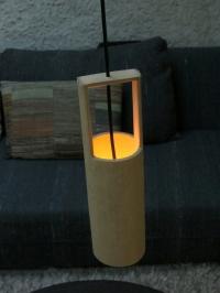 đèn tre ống gáo